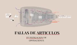 FALLAS DE ARTICULOS