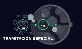 TRAMITACIÓN ESPECIAL
