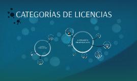 Copy of CATEGORIAS DE LICENCIAS