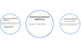 Advertising Medium- Billboards