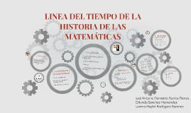 LINEA DEL TIEMPO DE LA HISTORIA DE LAS MATEMÁTICAS