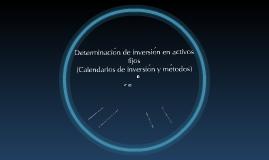 Copy of Determinación de inversión en activos fijos  (Calendarios de inversión y métodos)