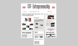 ESF- Entrepreneuship