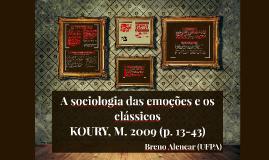 A sociologia das emoções e os clássicos