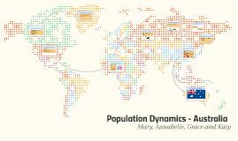 Population Dynamics - Australia