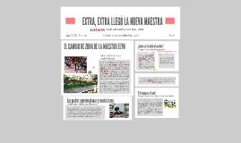 Copy of EXTRA, EXTRA LLEGÓ LA NUEVA MAESTRA