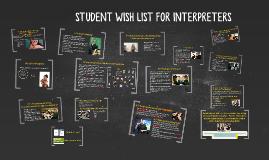 WISH LIST FOR INTERPRETERS