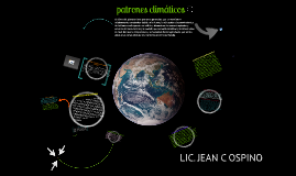 PATRONES CLIMATICOS
