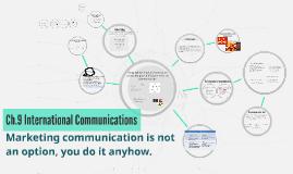 Ch.9 International Communications