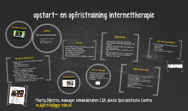 opstarttraining internettherapie