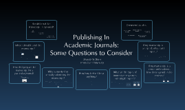 Publishing in Academic Journals: Some Questions to Consider