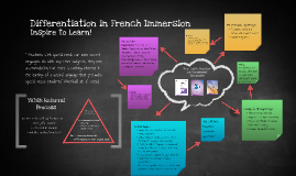 Copy of Differentiation in French Immersion