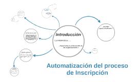 Automatización del proceso de Inscripción