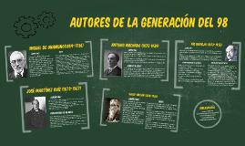 Autores de la Generación del 98