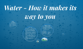 Water - How it makes its way to you