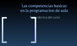 Las competencias básicas en la programación de aula