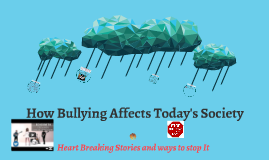 Copy of Bullying And Today's Society