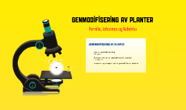Copy of Genetic Modification of Plants