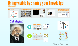 Online visible by sharing knowledge