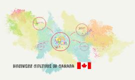 Business Culture in Canada
