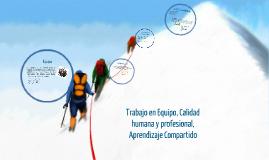 Trabajo en equipo y calidad humana
