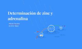 Determinación de zinc y adrenalina