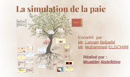 La simulation de la paie