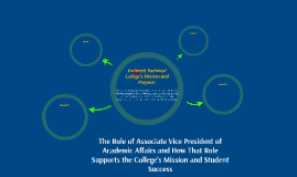 The Role of Associate Vice President of Academic Affairs and