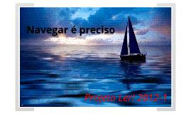 Projeto Ler! 2012-1 - Navegar é Preciso