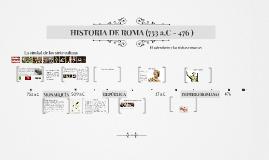 HISTORIA DE ROMA (753 a.C - 476 )