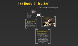 The Analytic Teacher