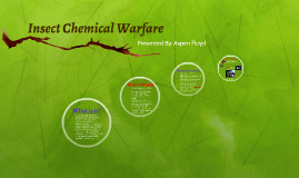 Insect Chemical Warfare