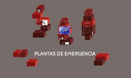 PLANTAS DE EMERGENCIA