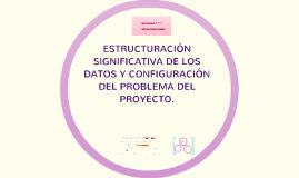 ESTRUCTURACIÓN SIGNIFICATIVA DE LOS DATOS Y CONFIGURACIÓN DE
