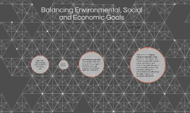 Balancing Environmental Social and Economic Goals