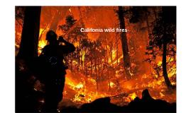 Califonia wild fires