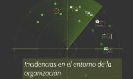 Copy of INCIDENCIAS EN EL ENTORNO DE LA ORGANIZACION