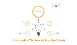 Curso sobre Técnicas de Estudio: Esquema (3 de 4)