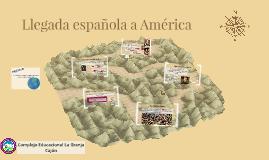 Llegada española a América