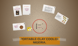 PORTABLE CLAY COOLER NIGERIA.