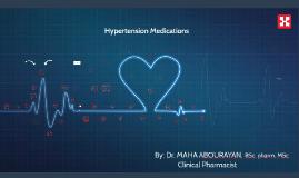 Copy of Hypertension Medications