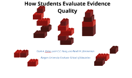How Students Evaluate Evidence Quality