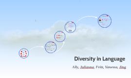Diversity in Language