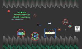 Auditoria Administrativa al C.A.C. Huancayo.