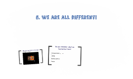 5. We are all different!