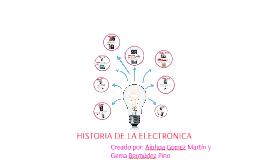 HISTORIA DE LA ELECTRONICA