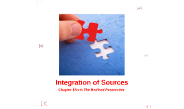 Integration of Sources