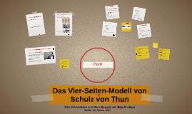 Das Vier-Seiten-Modell von Schulz von Thun