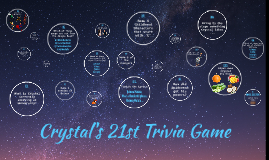 Crystal's 21st Trivia Game