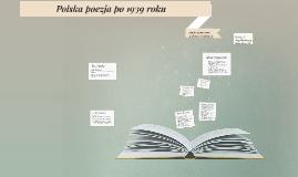Polska poezja po 1939 roku